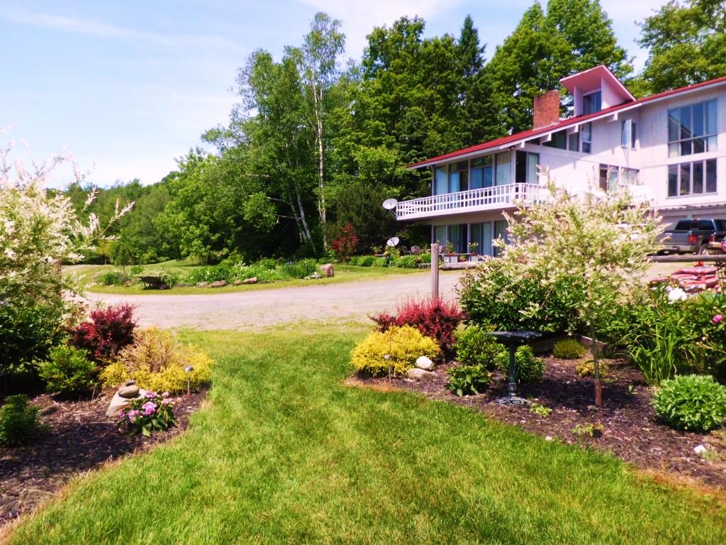 View of the patio garden through the corral garden